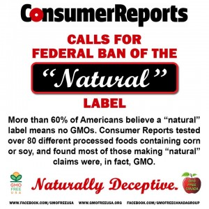 CONSUMER REPORTS WANT NATURAL REMOVED